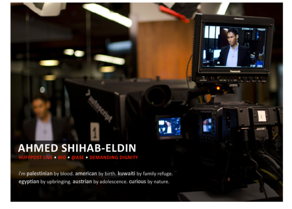 ahmed shihab eldin dating To launch this new initiative, we talked to emmy-nominated journalist ahmed  shihab-eldin you've probably seen his videos on aj+, where he.
