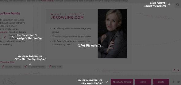 j k rowling site