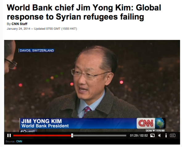 jim yong kim on syrian refugees