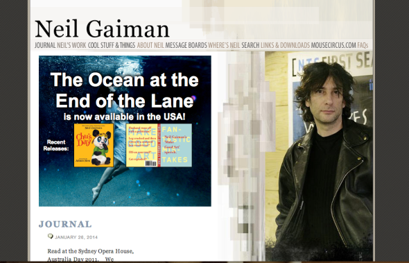 neil gaiman site
