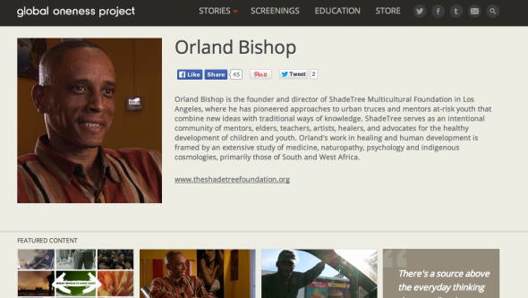 orland on global oneness project site