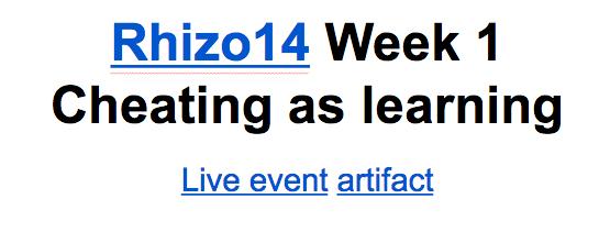 rhizo doc week 1