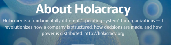 about holacracy on medium