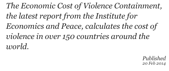 economic cost of violence containment