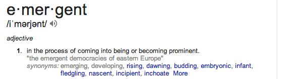 emergent defn