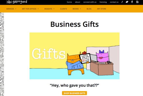 gapingvoid business gifts
