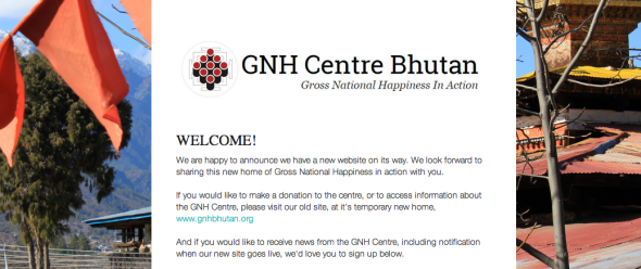 gnh centre bhutan new site