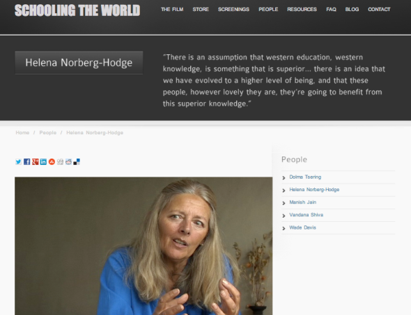 helena on schooling the world site