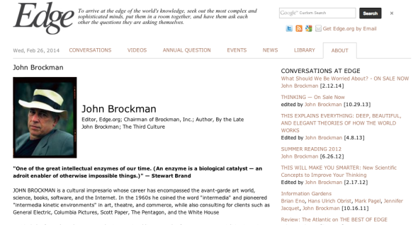 john brockman on the edge
