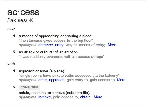 access defn
