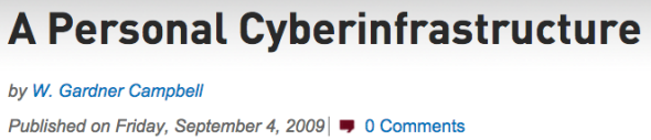 personal cyberinfrastructure