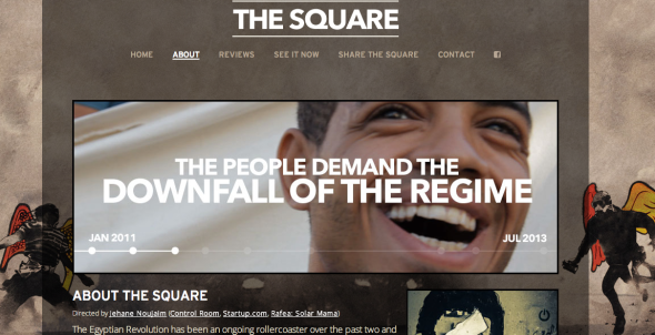 the square site