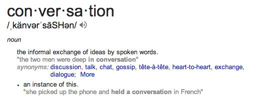 conversation defn