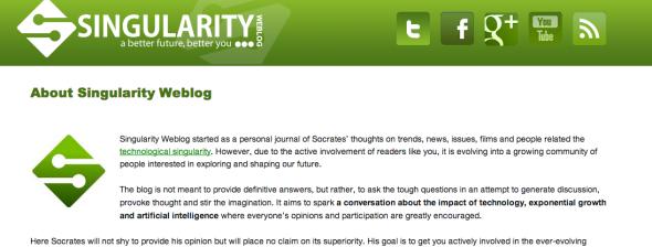 singularity blog