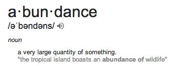 abundance 2
