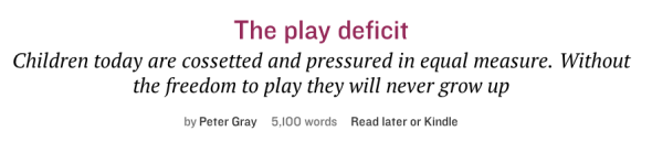the play deficit