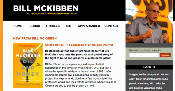 bill mckibben site