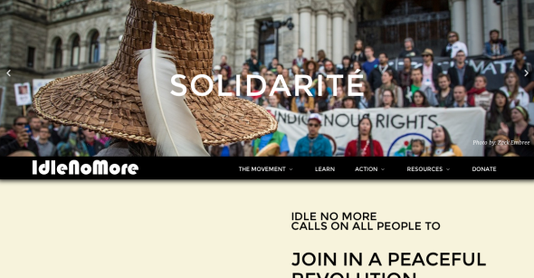 idle no more site