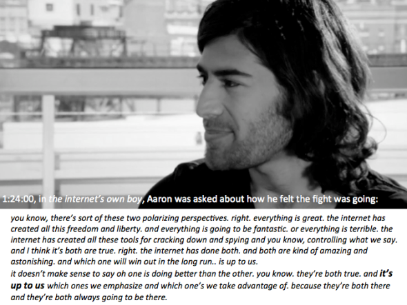 aaron quote from too much