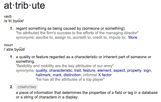 attribute
